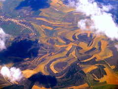 French constructivist landscape (oobwoodman) Tags: aerial aerien luftaufnahme luftphoto luftbild france frankreich agriculture fields pastures pattern champs acker