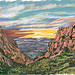 My Travel Paintings - Big Bend National Park The Window Sunset