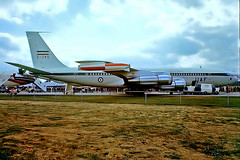 5-249   Boeing 707-3J9C [21125] (Iranian Air Force) Farnborough~G 10/09/1976 (raybarber2) Tags: 21125 5249 airliner cn21125 eglf filed flickr iranianmilitary jettransport planebase raybarber slide