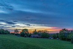 Beautiful, Colourful Sky (HaydenWright) Tags: basildon trees eveningsky landscape sunset woods dogwalks park sky walks scenic southessex essex clouds