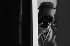 Mirror selfie (xnedski) Tags: ilfotekddx pa philadelphia usa analog f2as nikonf2 trix