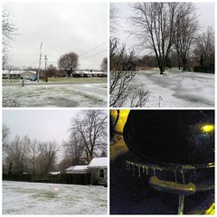 Icy April Day (genesee_metcalfs) Tags: collage april spring snow ice homestead