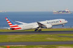 Boeing 787-9, N837AN, American Airlines (tkosada.mac) Tags: americanairlines oneworld dreamliner boeing b789 tokyointernationalairport hanedaairport hnd rjtt