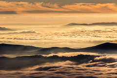 IMG_2838 (Massimo_Discepoli) Tags: sunset fog mist mountains orange landscape moody surreal amazing