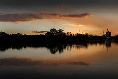 Sunset over the lake (Valentin.LFW) Tags: melbourne skyline australia sydney photography photograher french night sunset canon80d