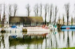 Impressions from the riverbank (Zara.B) Tags: intentionalcameramovement icm iphone impressions riverbank river light abstract painterly water reflections trees thames boats blur slowshutterapp s