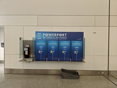 Payphones converted to charging stations, arrivals hall, Terminal 3, Pearson International Airport, Toronto, Ontario, Canada (gruntzooki) Tags: phones alwaysbecharging voltotropism mobile gadgets bellcanada aviation pearsoninternationalairport airports toronto yyz ontario ont canada
