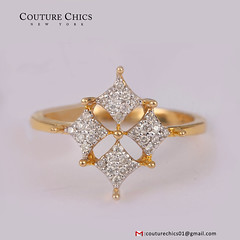Natural Diamond Pave Designer Ring Solid 14k Yellow Gold Jewelry (couturechics.facebook1) Tags: natural diamond pave designer ring solid 14k yellow gold jewelry