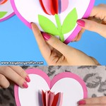 Tulip in a Heart Card – Mother's Day Craft for Kids thumbnail