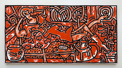 """Red Room"" (█ Slices of Light █▀ ▀ ▀) Tags: red room keith haring 凱斯 哈林 1988 acrylic canvas the broad museum contemporary art urban city life grand avenue losangeles downtown los angeles 洛杉磯 洛杉矶 la california 加州 加利福尼亞 カリフォルニア usa 美国 estados unidos sony rx1rm2 rx1r ii m2"