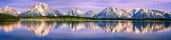 Grand Teton panorama - 5-26-18  01 (Tucapel) Tags: panorama grandteton nationalpark jackson wyoming morning light reflection water lake