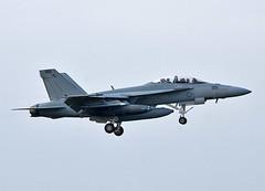 US Navy F-18F (np1991) Tags: prestwick airport ayrshire scotland united kingdom uk nikon digital slr dslr d7200 camera nikor 70200mm 70200 70 200 vibration reduction vr f28 lens aviation planes aircraft states america usa american boeing fa18f f18 f18f super hornet bug