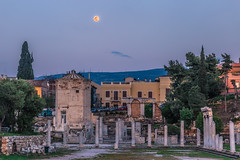 Ancient Athens under the full moon (Vagelis Pikoulas) Tags: athens architecture archaelogical archaeology moon moonlight full canon ancient 6d sigma 85mm art landscape city cityscape urban april spring 2019