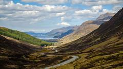 Loch Maree from Glen Docherty (San Francisco Gal) Tags: lochmaree loch water mountain road landscape westerross sky cloud scotland 2019 glendocherty slioch
