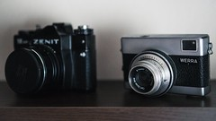 Old school (maci.goldenboy93) Tags: oldschool digitalcameras cameras photography werra zenit retro