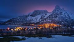 Mefjordvær (Antoni Figueras) Tags: senja norway mefjodvaer europe sunset bluehour winter mountains snow landscape sonya7rii sony24105f4 antonifigueras