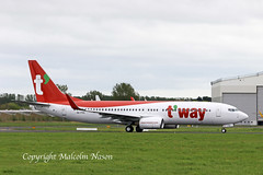 B737 A6-FDS (HL8354) T'WAY colours (shanairpic) Tags: jetairliner passengerjet b737 boeing737 shannon tway flydubai hl8354 a6fds