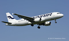 Finnair A320 ~ OH-LXM (© Freddie) Tags: londonheathrow poyle heathrow lhr egll 09l arrivals finnair oneworld airbus a320 ohlxm fjroll ©freddie