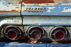 Telstar Chevrolet (David Sebben) Tags: abandoned chevrolet impala car automobile dealership badge telstar mitchell southdakota patina rust