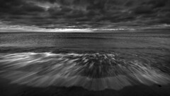 Woodbine Beach (Faron Dillon) Tags: sunrise beach woodbinebeach toronto black white waves blackandwhite slow shutter slowshutter ontario canada sony a7riii canon ef1740 metabones clouds dark cold sand water nature spring