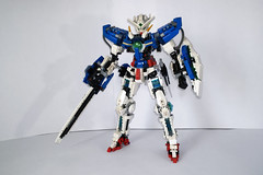 LEGO Gundam Exia GN-001 (Demon1408 78-2) Tags: lego gundam exia 00 gn 01 seven swords setsuna celestial being figure mecha moc creation brick hero factory bionicle technic manual instruction frame inner build