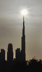 Flight passover Burj Khalifa during sunset (Inian4mIndia) Tags: burj khalifa flight silhouette nikon timing capture d850 dubai shadow passover