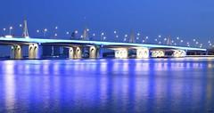 Festival City Bridge (Inian4mIndia) Tags: bridge colorful colors blue beautiful dubai nikon structural structure d850