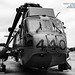 B&W HDR of the Backup Sea King With Rotors Stowed