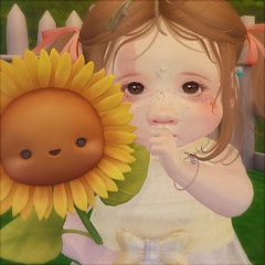 Sunflower smiles (daisypea) Tags: flickr spam art daisy crowley secondlife second life sl roleplay toddler child kid children tot td bebe bad seed toddleedoo colour color draw paint crayon photo photography picture rp cute sweet adorable baby little girl daughter sister family look day lotd landscape school create creativity creative sweetpea portrait snap snapshot quick dress up dressup person people play playful adore 2006 flower illustration daydream dream twin sunflower mishmish reopened smiles smile