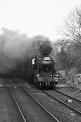 Smokey passing (Jacobite52) Tags: 48151 35018 8f wcrc railway train steam mainlinesteam lms