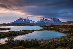 Torres del Paine (craigholloway) Tags: sunset torresdelpaine nikon d810 landscape patagonia chile lake mountain painemassif painegrande cloud