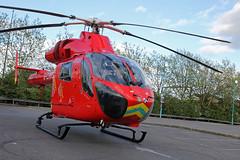 London's Air Ambulance in Cricklewood (kertappa) Tags: img6957 air ambulance londons london hems doctor paramedics hospital gehms emergency helicopter kertappa broadway retail park cricklewood