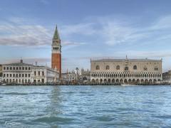 El Cielo sobre Venecia. (The Sky over Venice) (Capuchinox) Tags: venecia venice cielo sky italia italy agua water torre tower palacio palace arquitectura arquitecture photomatix