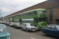 Failed photo ... or not? (Renown) Tags: buses leyland albion lowlander alexander weymann eastmidland motorservices imp viva golf cortina landcrab mansfield busgarage