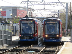 Stagecoach Supertram 399203 and 399206 at Rotherham Central (Twydallaer) Tags: stagecoachsupertram rotherhamcentral 399203 399206