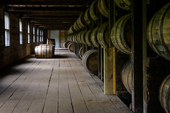 Barrels of bourbon (jonasfj) Tags: nikonz7 z7 z6 mirrorless nikon 50mm normallens nikkor5018s zmount kentucky bourbon whiskey barrels aging 1792 barton liquor distillery windows windowlight green charred oak
