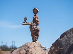 Balanced Rock Sculpture (joncutrer) Tags: llano llanoriver llanotexas texashillcountry travel texas leaf 2019 earth art nature festival river leaf2019 outdoorart rockstacking rockbalancing balance balanced tall rockart
