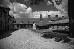 Auschwitz (*Kicki*) Tags: unesco auschwitz poland europe horror hell polen building architecture hellonearth chimneys sky clouds koncentrationsläger nazi concentrationcamp förintelsen holocaust helvete fruktan fear neveragain worldheritage världsarv