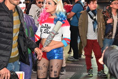 Harley Quinn Halloween outfit 2018 (hootervillefan) Tags: 2018 halloween costume times square nyc new york city timessquare harley quinn harleyquinn cosplay pantyhose hosiery