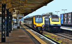 Icon & Non-Icon (whosoever2) Tags: uk united kingdom gb great britain england nikon d7100 train railway railroad april 2019 taunton somerset hst class43 gwr crosscountry voyager station
