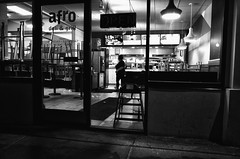 GR (daveson47) Tags: night dark lowlight mono monochrome bw blackandwhite street streetphoto urban city minneapolis ricoh ricohgr gr cafe