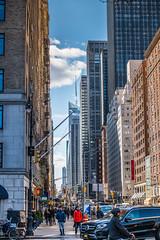 NYC City Street (Bernie Totten) Tags: ny nyc street traffic skyscrapers night cityscape manhattan skyline newyork nikon nikonphotography d850 nikkor nikon70200 70200 city
