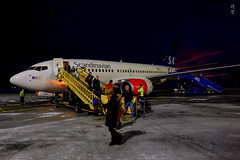 SAS Boeing 737-700 (A. Wee) Tags: sas 北欧航空 scandinavianairlines boeing 737 737700 östersund airport 机场 osd sweden 瑞典