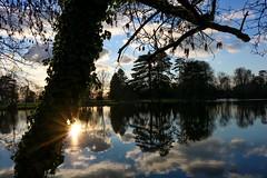 Réflection (pascal445) Tags: reflets étang tree arbre trees soleil sun beautiful beauty bleu blue sky clouds nature reflection water eau