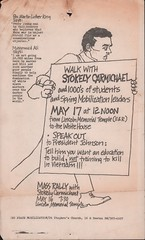 Antiwar walk with Stokely Carmichael flyer: 1967 (Washington Area Spark) Tags: stokely carmichael kwame ture spring mobilization committee end war vietnam dr benjamin spock coretta scott king lincoln memorial temple white house antiwar peace protest demonstration march rally 1967