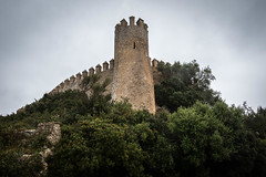 Fortress of Almudaina d'Artà, Mallorca (Adrià Páez) Tags: fortress almudaina artà mallorca majorca islas baleares illes balears balearic islands europe castle tower architecture islamic muslim sky clouds vegetation plants old history historical canon eos 7d mark ii from below