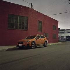 Red and orange (ADMurr) Tags: dba606 la eastside hasselblad 500cm 50mm distagon fuji pro 400 square 6x6