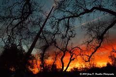 Fiery sunset at the Sundial (Jerry Hamblen) Tags: sundialbridge bridge sacramentoriver redding california river sacramento sunset spire fiery clouds