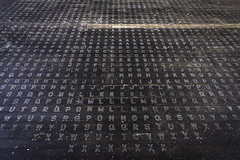 The Letters on the Floor (jessicalowell20) Tags: abandoned alphabet detail floor historic industrial maine mill newengland northamerica kezar falls woolen