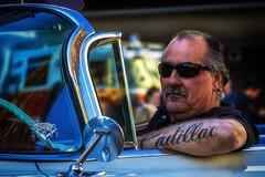 Cadillac Man (Abel AP) Tags: people car driver cadillac lifestyle americanculture america sanjose california usa bayarea sanfranciscobayarea northerncalifornia abelalcantarphotography
